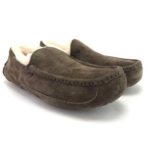 UGG Men's Ascot Suede Shearling Loafers Sz 8